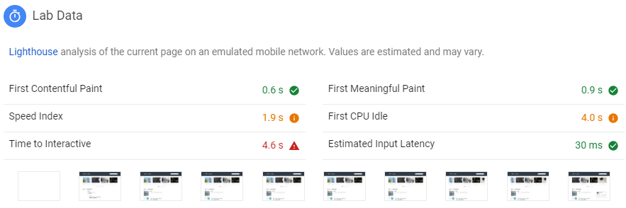 Lab Data Google Inisight Developer