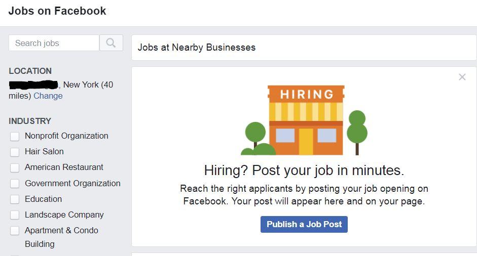 job seekers and testing facebook