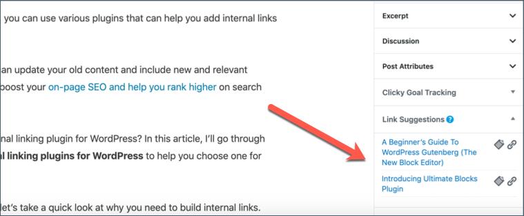 Link Suggestions Rank Math