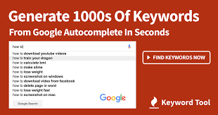Keywordtool.io youtube keyword generator tool