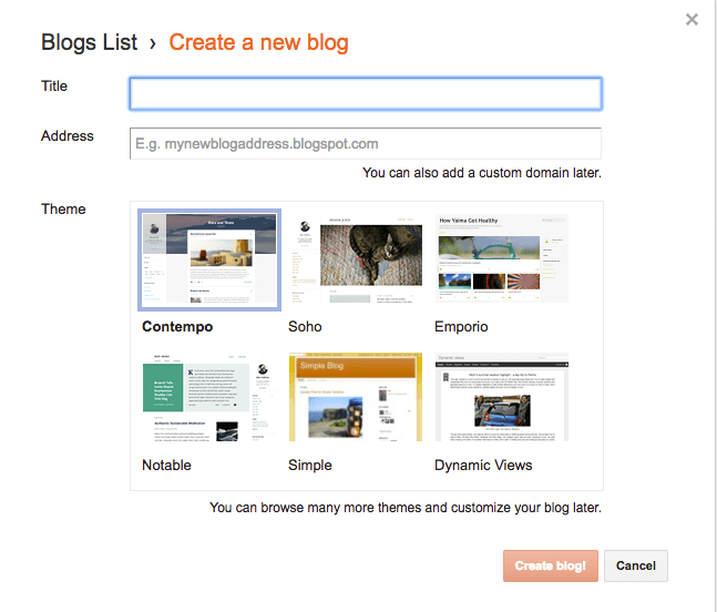 New Google Blogspot Blog